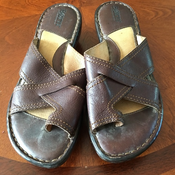 Born Shoes - Brown Leather Born Sandals